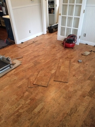 Prefinished Cork Locking Hardwood Flooring. Rockbridge Flooring Professionals, LLC