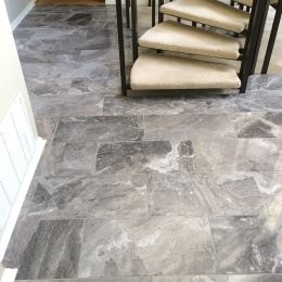 """Silver Fantasy"" Polished Turkish Marble. Rockbridge Flooring Professionals, LLC"